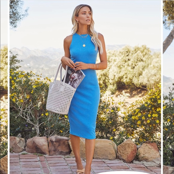 NWOT - VICI Ribbed Knit Midi Dress - XL